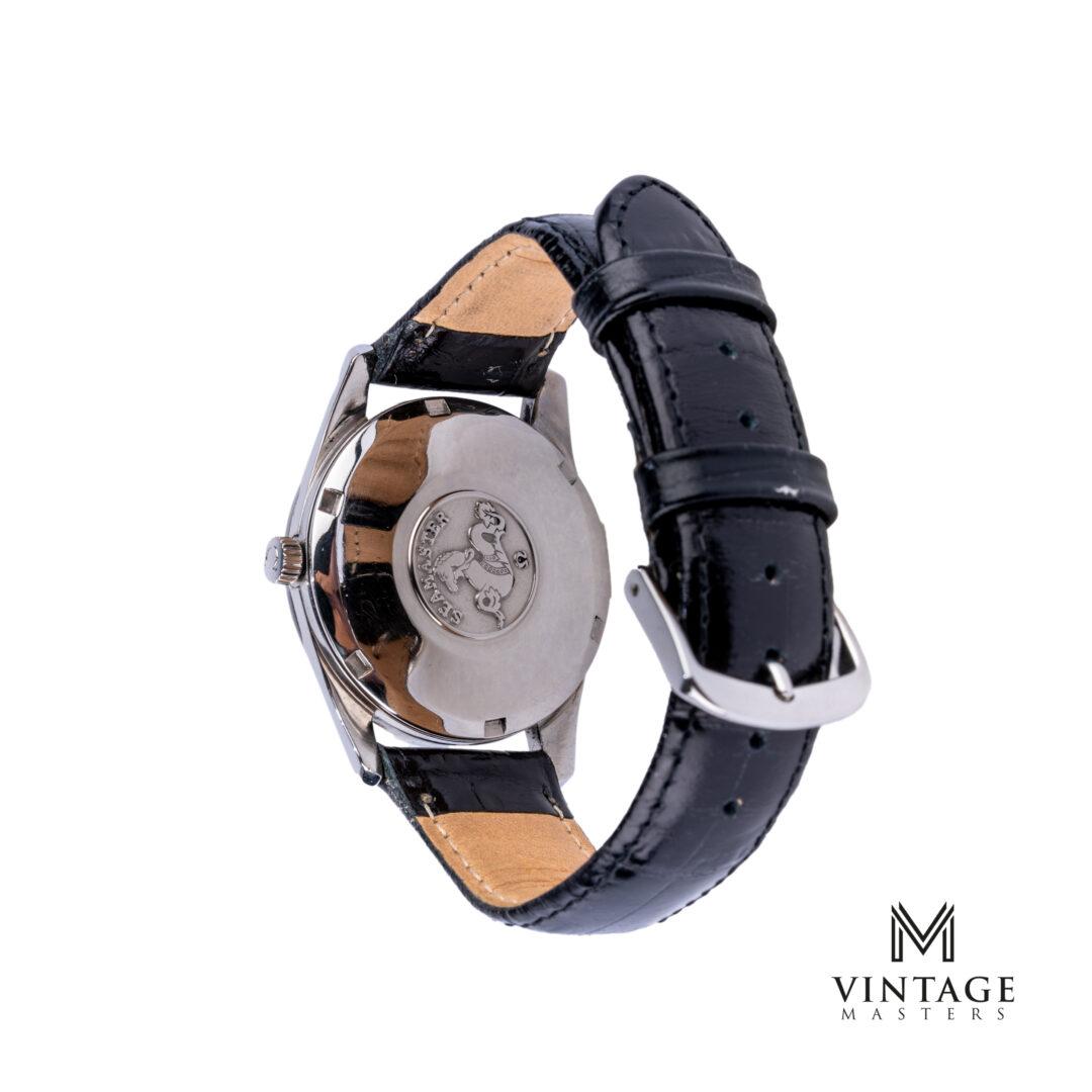 vintage omega watch14701-1 SC black dial seamaster caseback