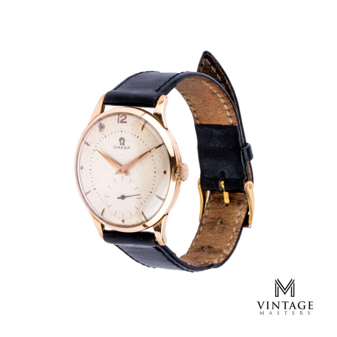 vintage omega dress watch 18k rose gold jumbo side