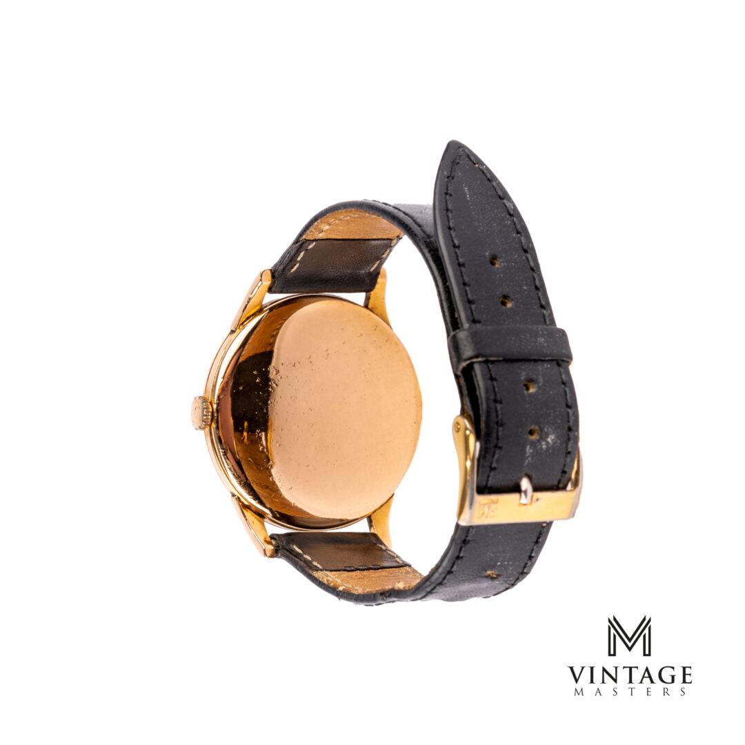 vintage omega dress watch 18k rose gold jumbo caseback
