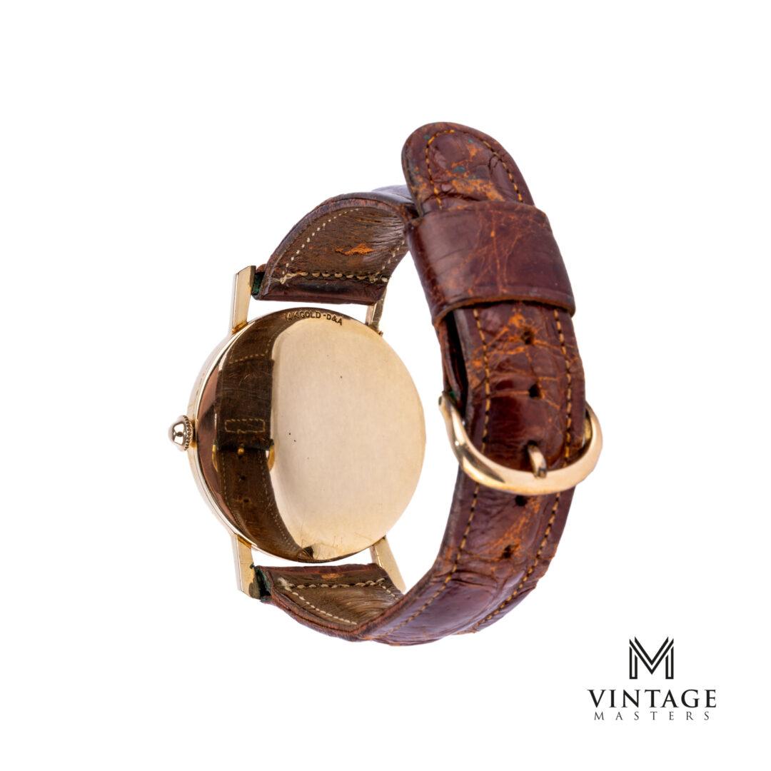 vintage Omega Rare Breguet Numerals 14K Gold US Market Fancy Lugs Watch caseback
