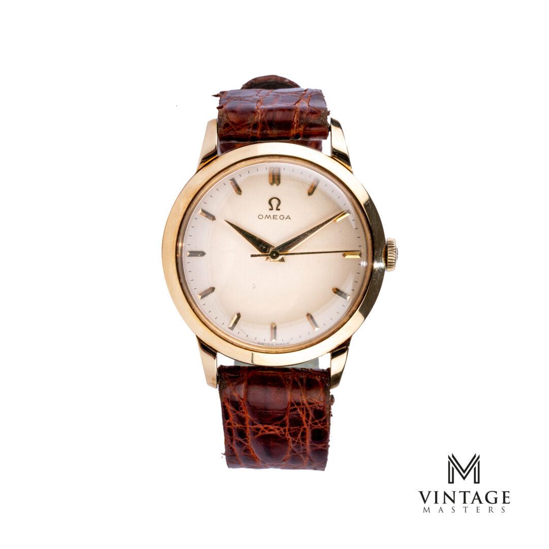 vintage Omega 2686 14K solid gold dress watch front