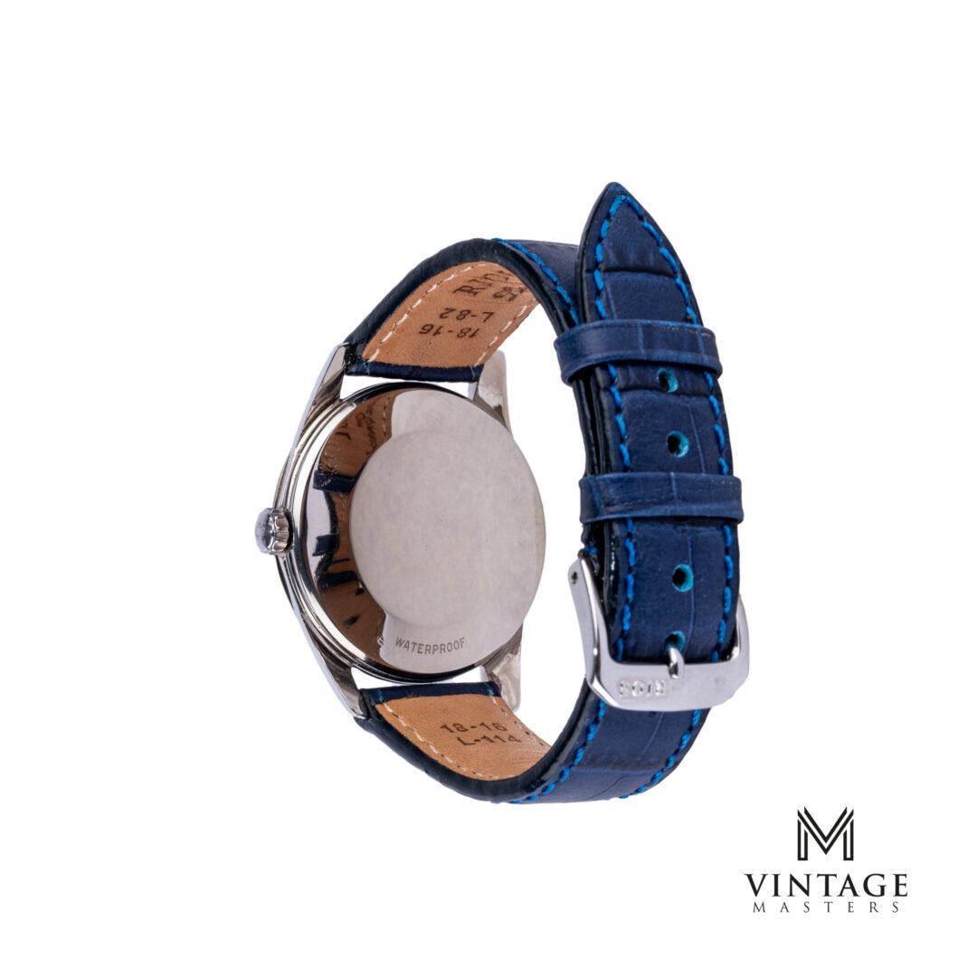 vintage Omega Seamaster watch. Blue Dial 2938-2 SC 1956 caseback
