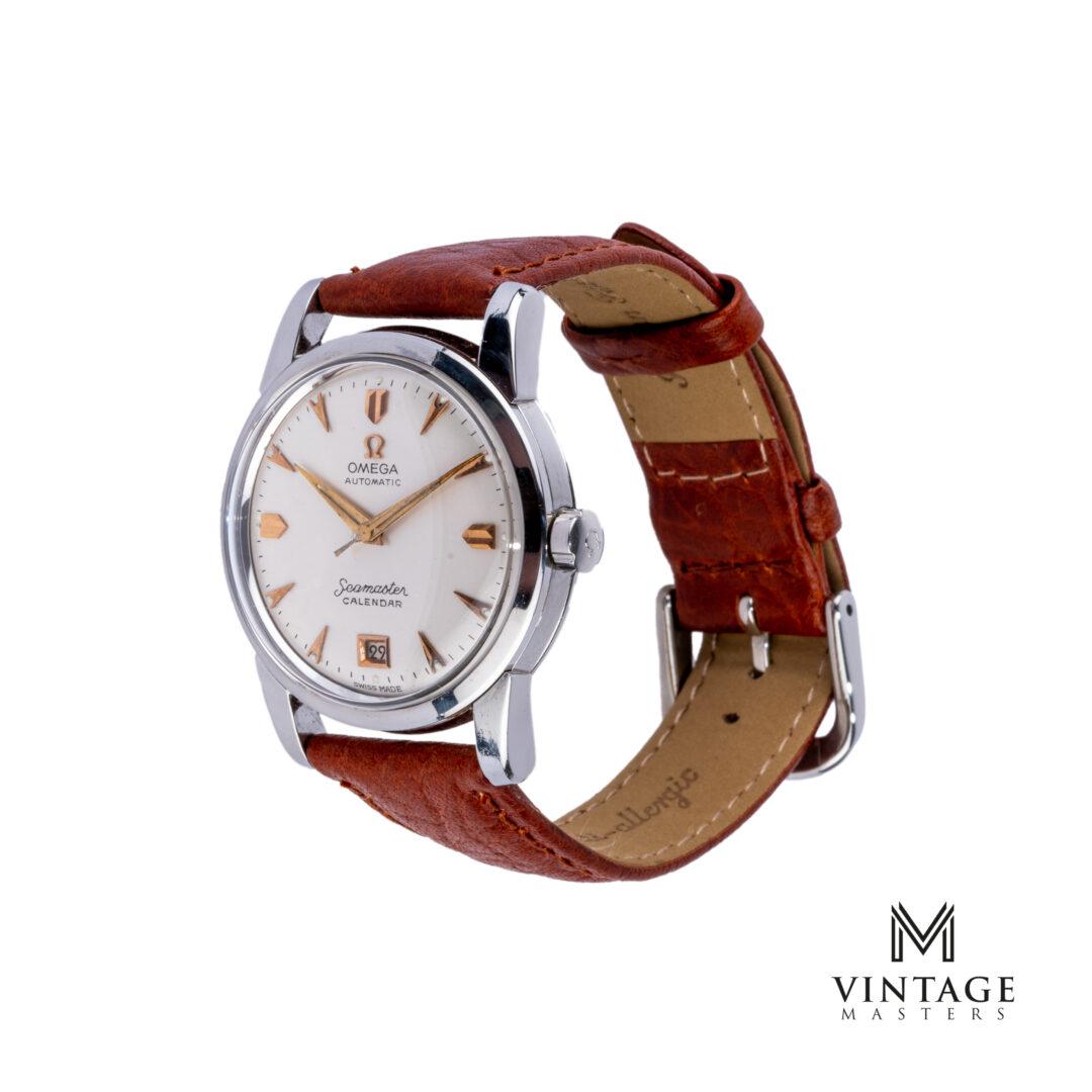vintage Omega Seamaster watch Automatic Calendar 2757-9 SC 1954 side