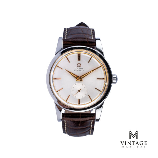 vintage Omega Pre-Seamaster watch Steel ref: 2493-2 front