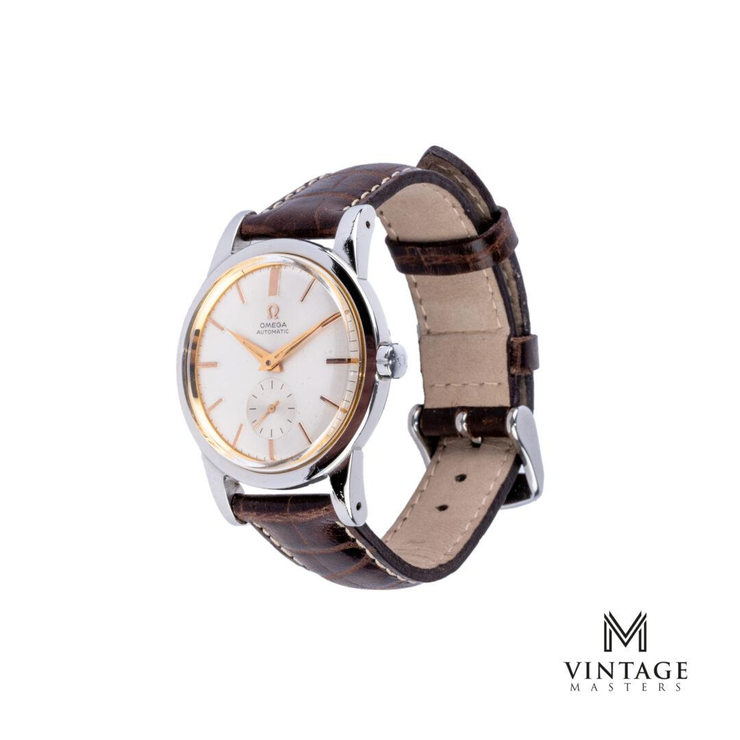 vintage Omega Pre-Seamaster watch Steel ref: 2493-2 side