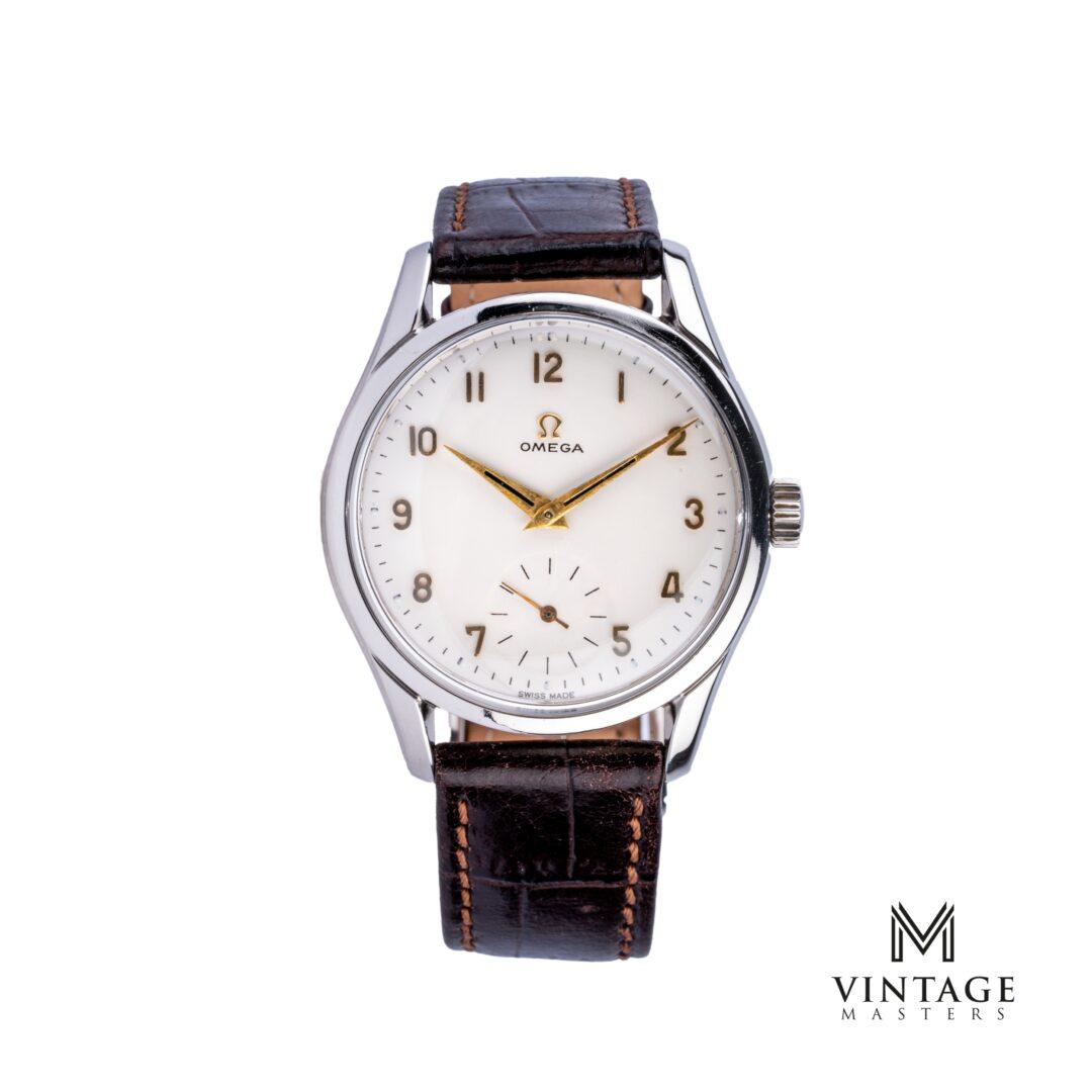 vintage Omega Calatrava watch. Sub-Second 2639-8 1952 front