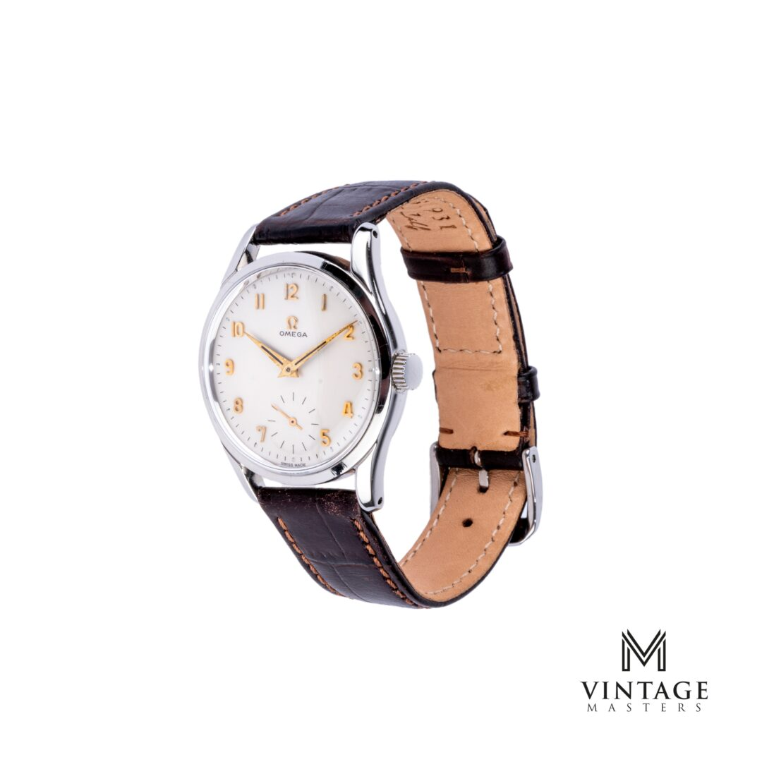 vintage Omega Calatrava watch. Sub-Second 2639-8 1952 side