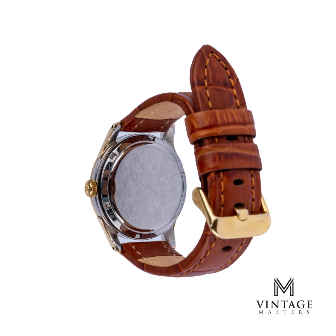 vintage Omega Classic watch Oversized Gold/Steel ref: 2640-61sc caseback