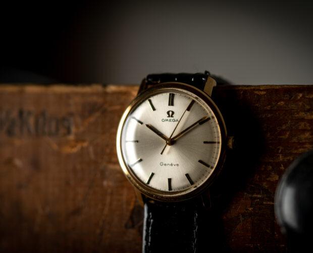 vintage Omega Geneve 14k gold 131021