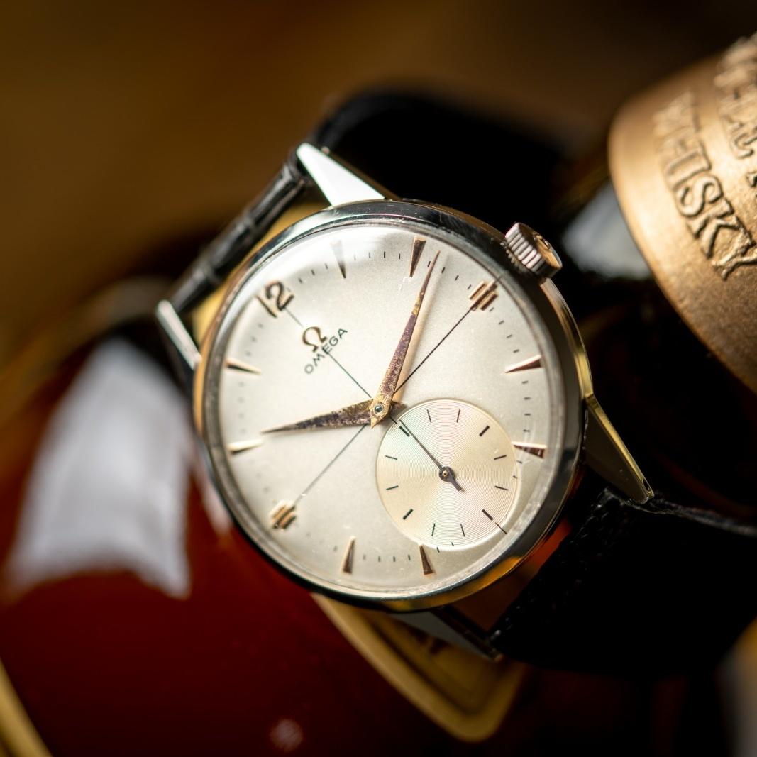 vintage omega watch 2271-1 calatrava crosshair