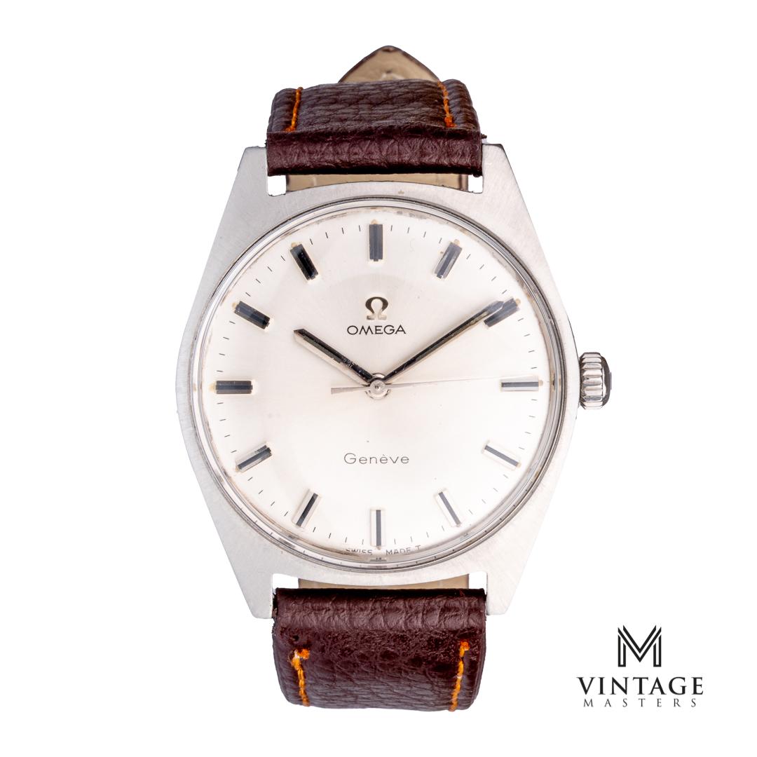 Omega geneve 135.041 cal 601 1968 vintage omega watch front