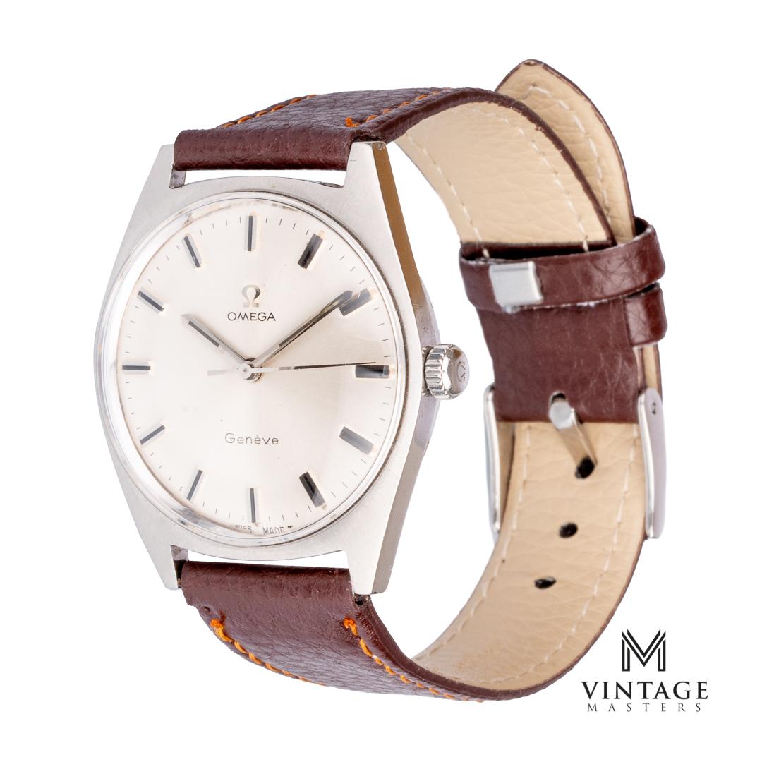 Omega geneve 135.041 cal 601 1968 vintage omega watch side