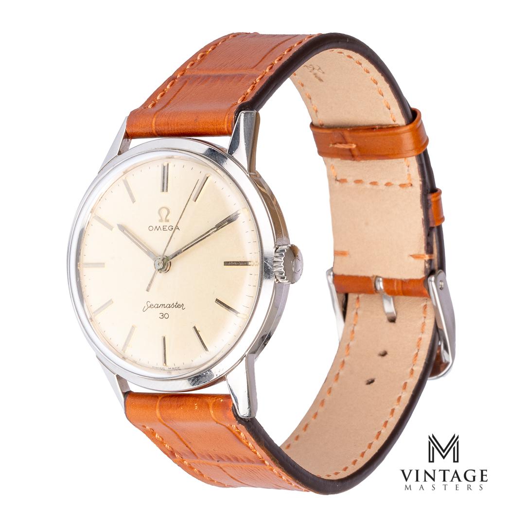 Omega seamaster 30 vintage watch 135003 caliber 286 1962 side
