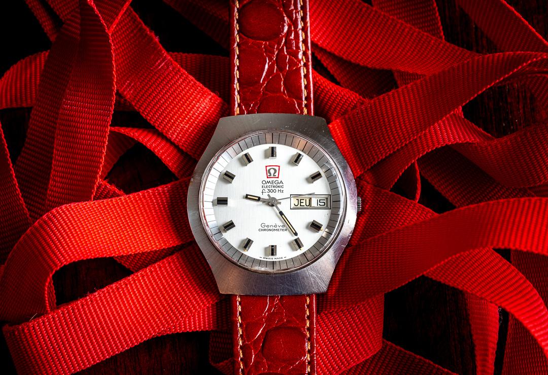 Vintage Omega 198020 Geneve f300hz chronometer watch