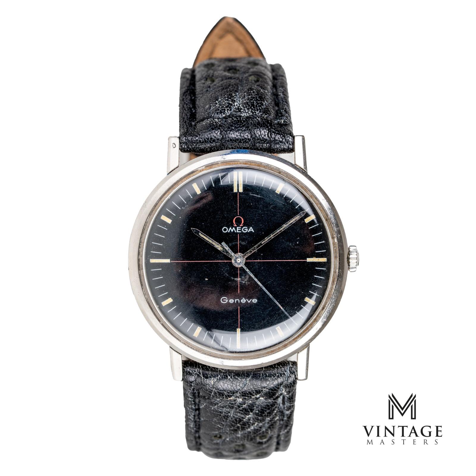 vintage Omega geneve technical dial 131019 vintage watch front