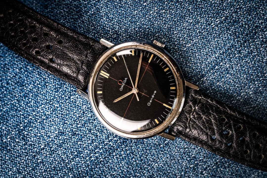 vintage Omega geneve technical dial 131019 vintage watch