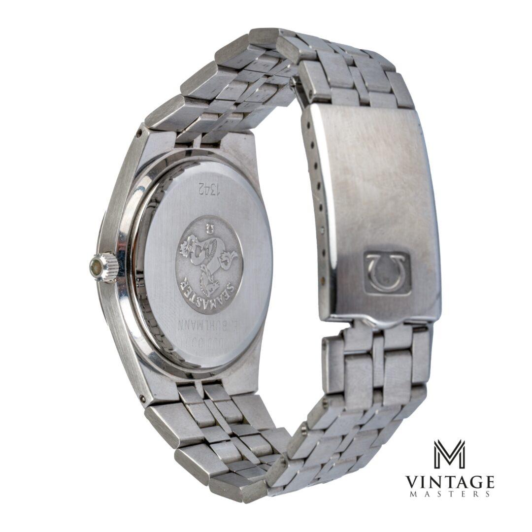 Vintage Omega Seamaster mercedes quartz 196095 cal 1342 back