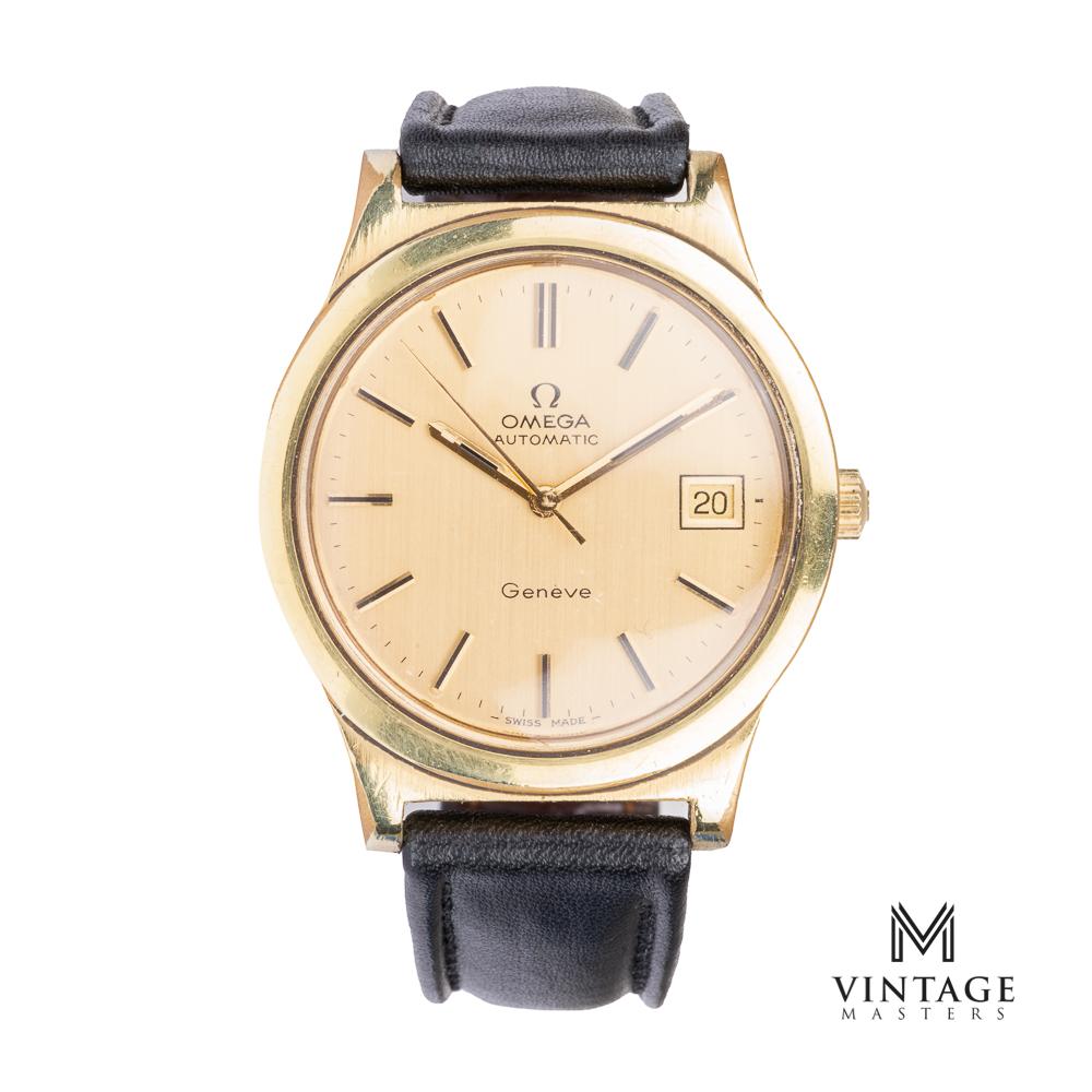 vintage omega geneve 1660168 gold plated front