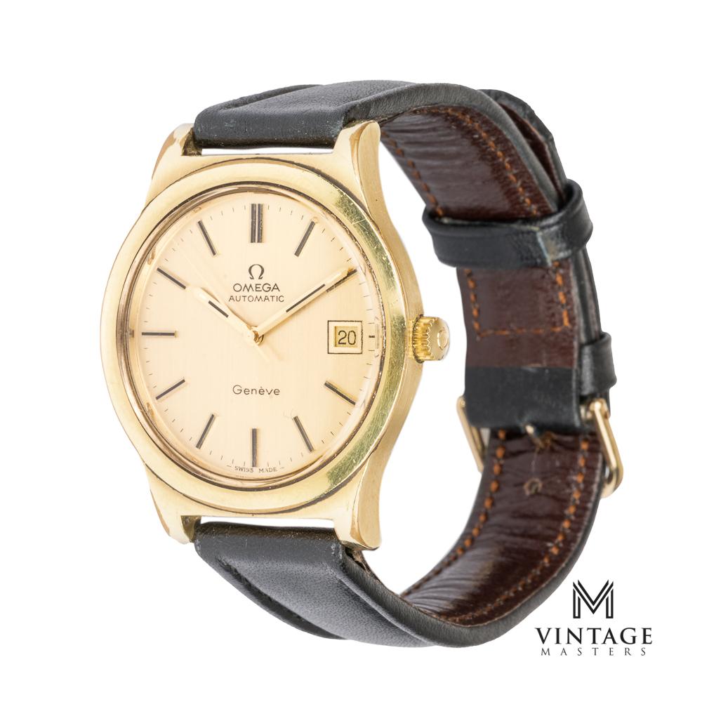 vintage omega geneve 1660168 gold plated side