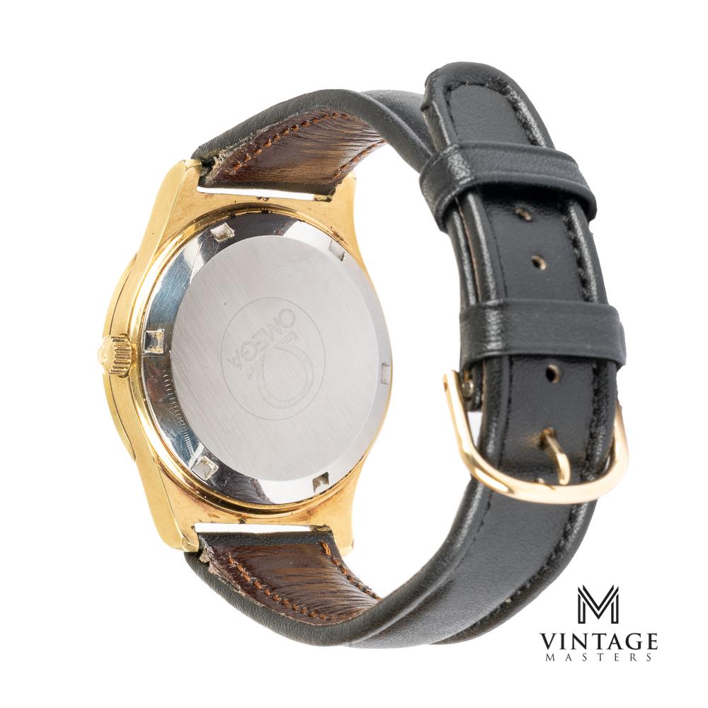 vintage omega geneve 1660168 gold plated back