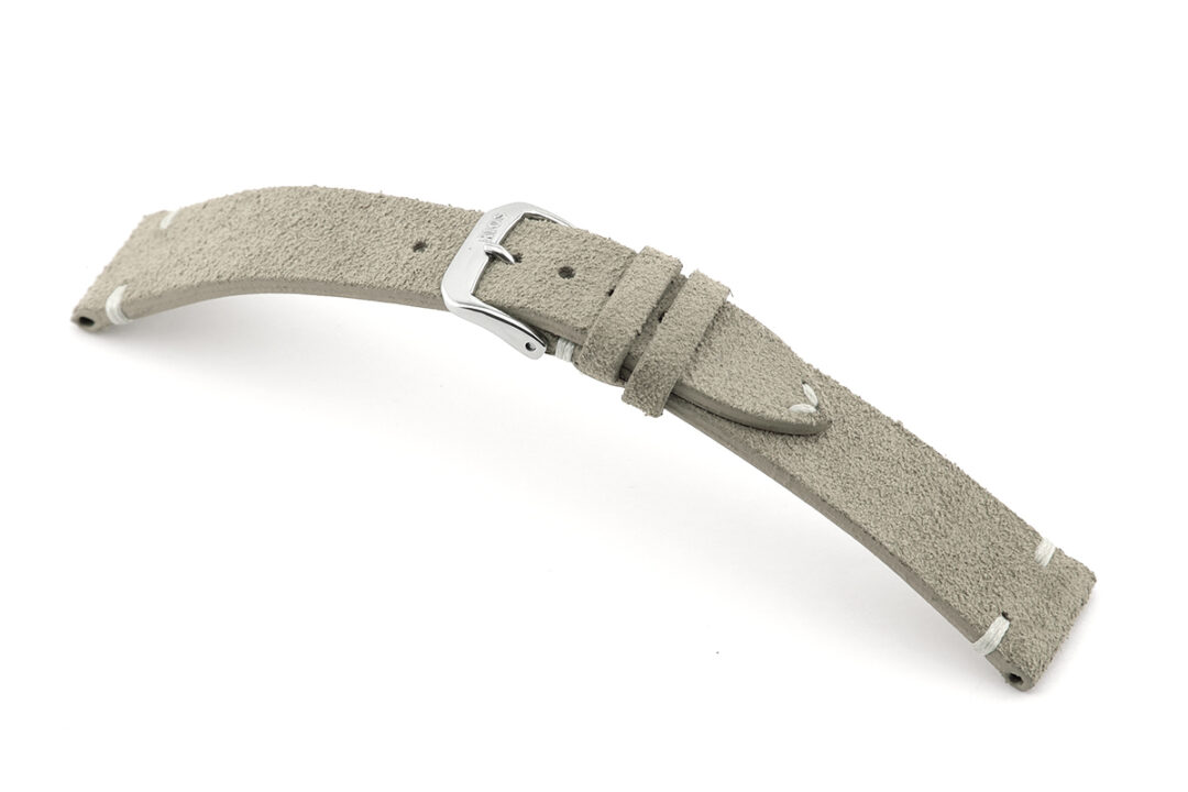 Rios hudson stone grey suede watch strap