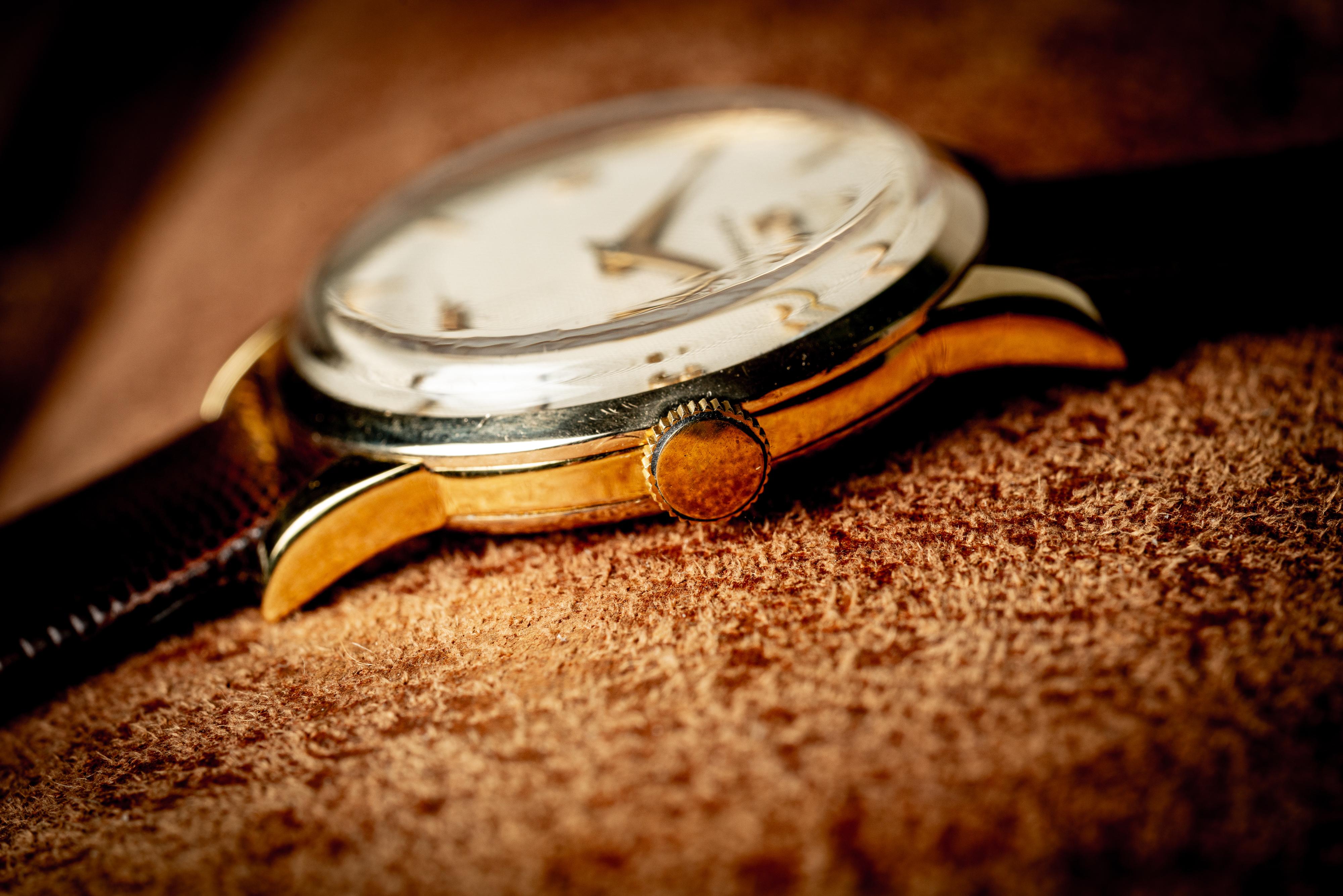 vintage Omega Gold Filled Honeycomb 2512-11 1954
