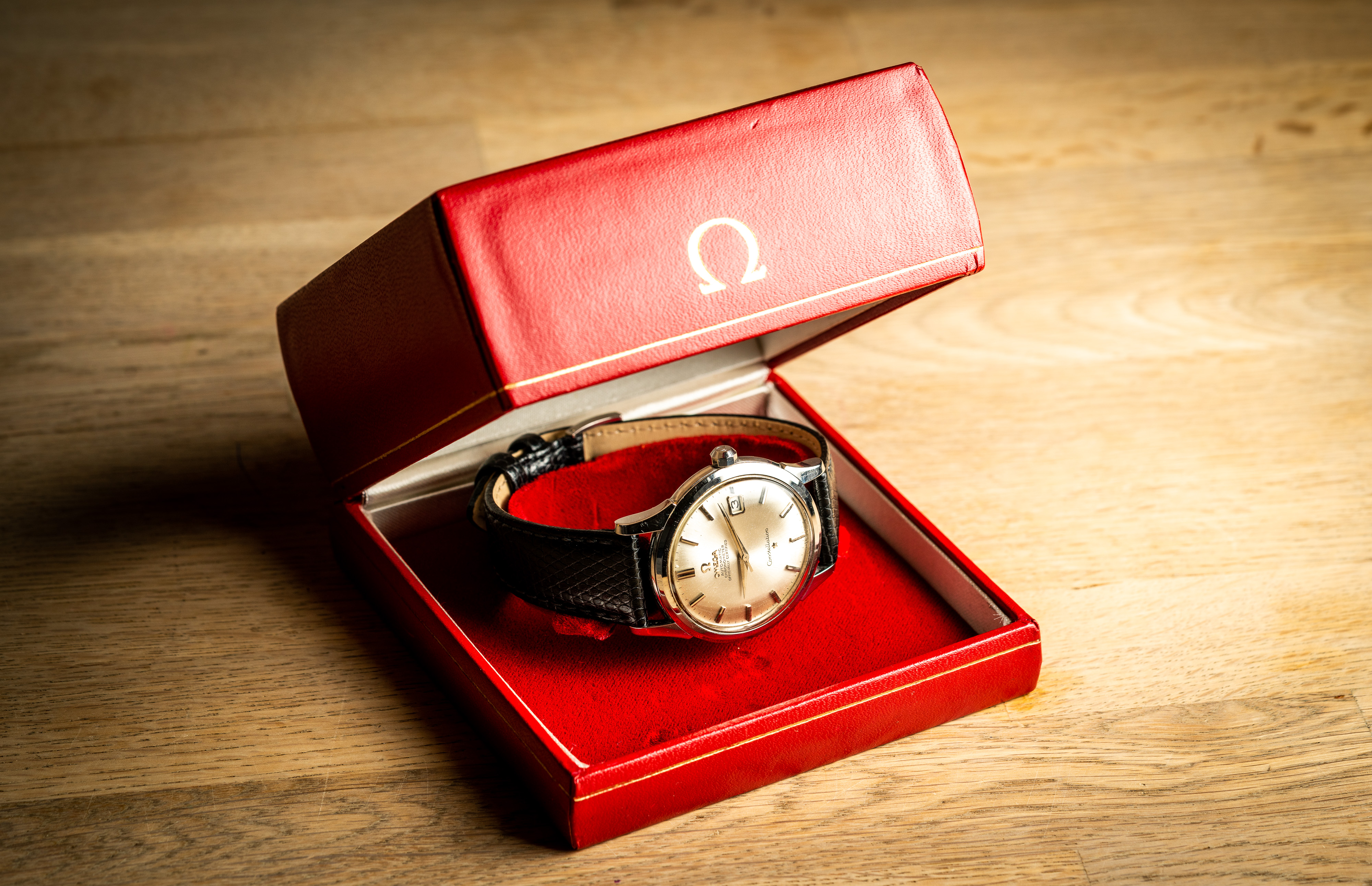 vintage omega 168001 jumbo watch 1966 with box