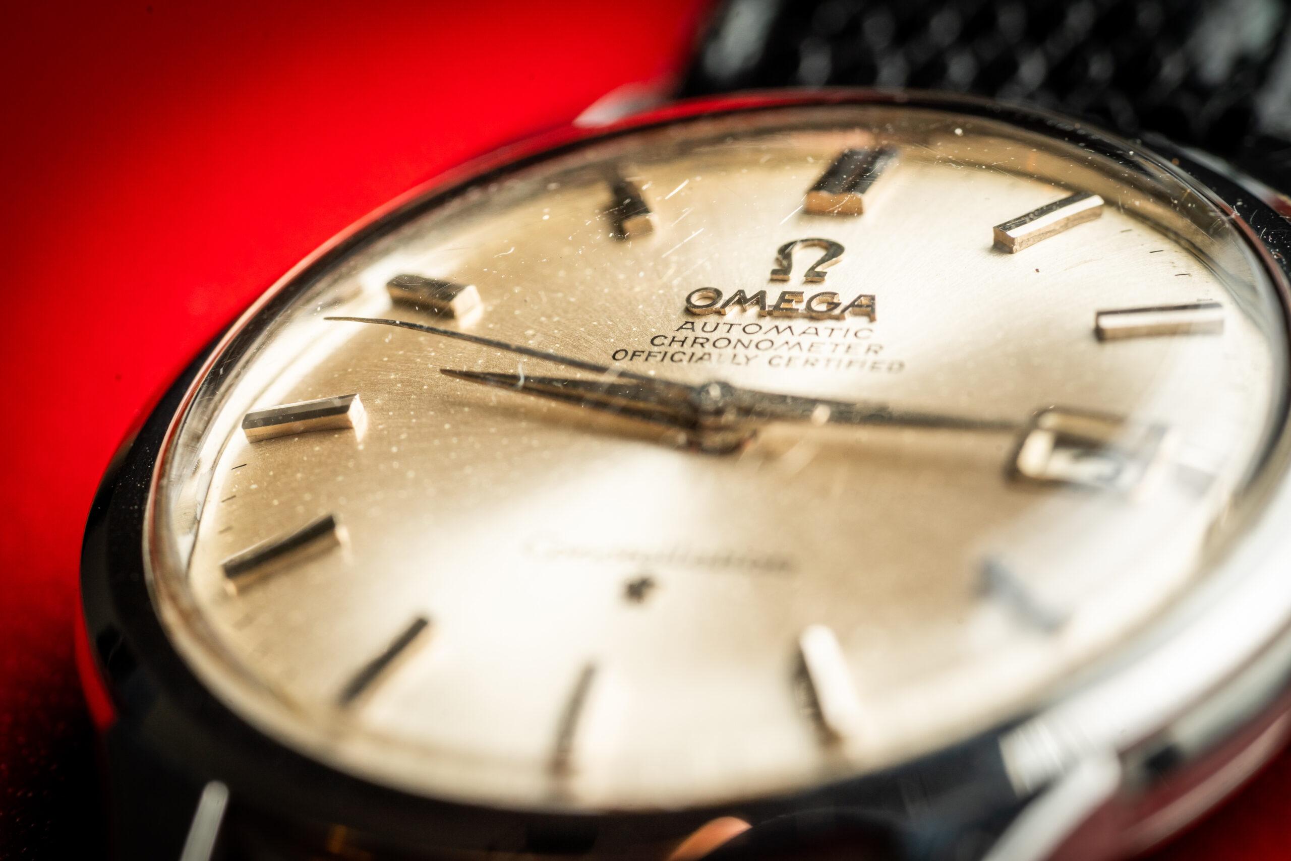 vintage omega 168001 jumbo watch 1966 dial
