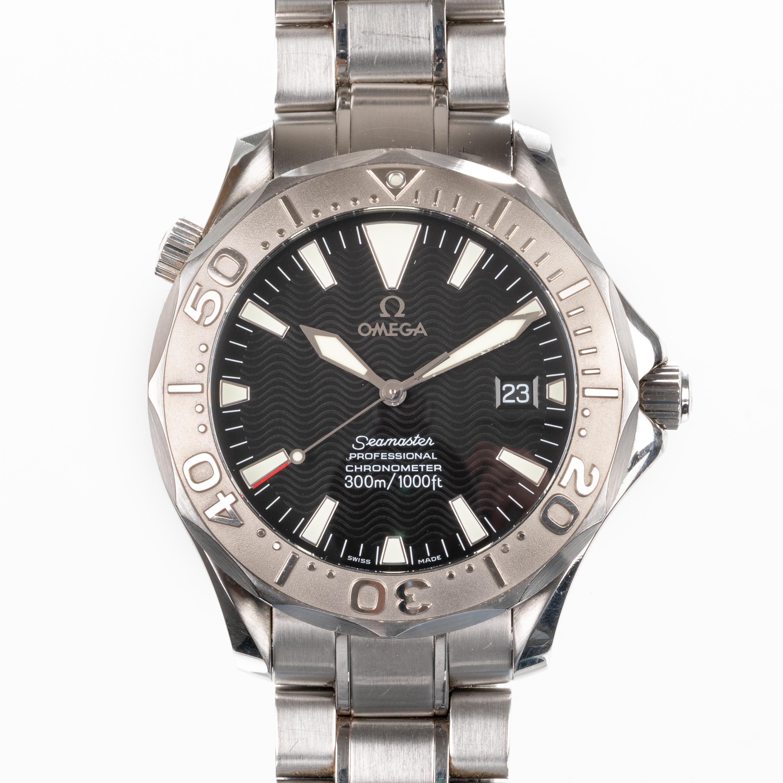 omega seamaster professional 300m 22305000 white gold bezel 2006