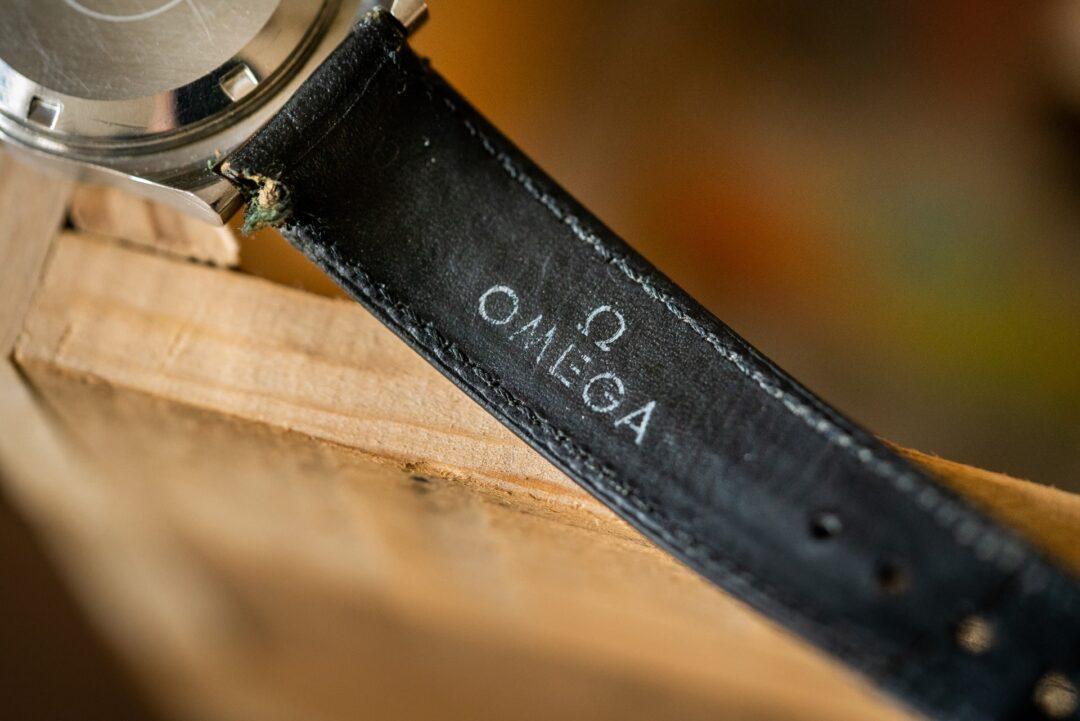 original omega leather strap