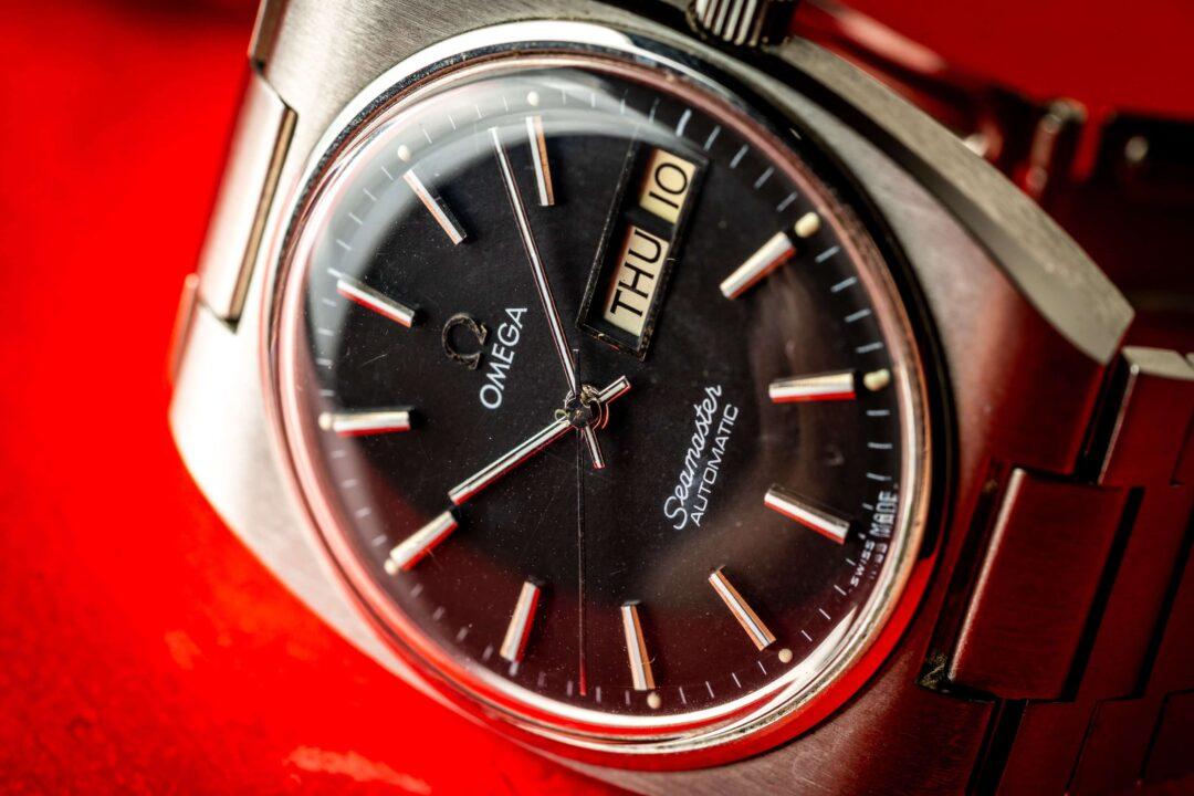 vintage Omega Seamaster 166.0216 watch macro