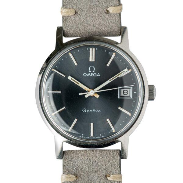 vintage Omega geneve 1360098 grey dial watch