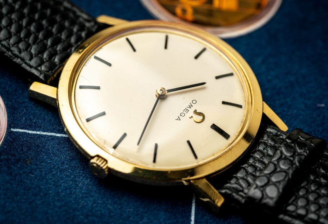 Vintage Omega Ultra-Thin 18k Dress Watch 111.046 1965 dial