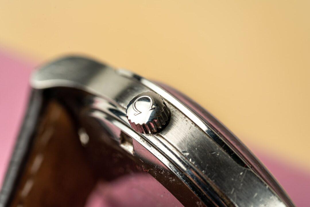 vintage omega geneve 166.0168 bronze dial watch 1974 crown