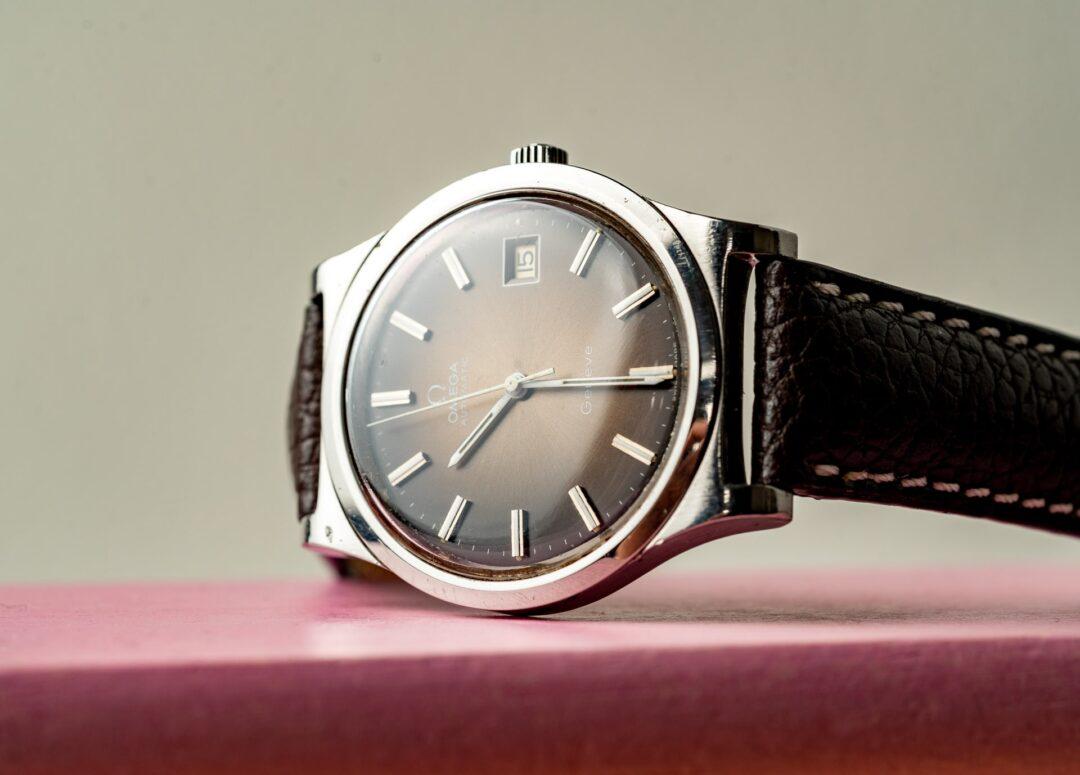 vintage omega geneve 166.0168 bronze dial watch 1974