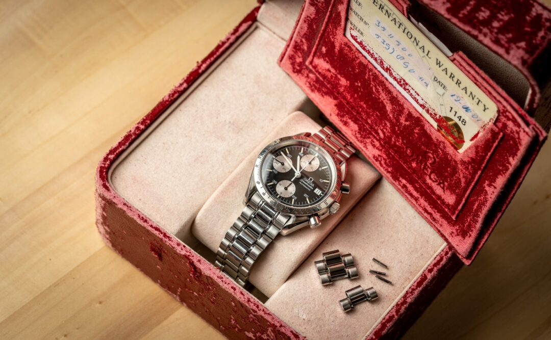 Omega speedmaster reduced 351150 reverse panda full set watch 2001