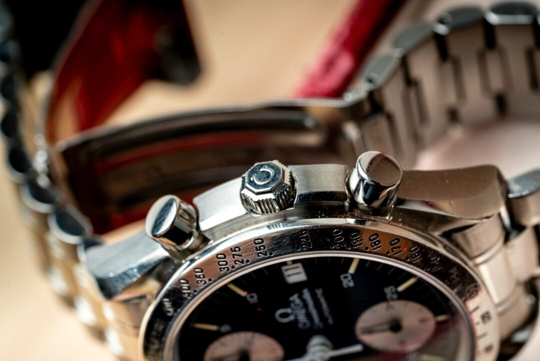 Omega speedmaster reduced 351150 reverse panda full set watch 2001 crown