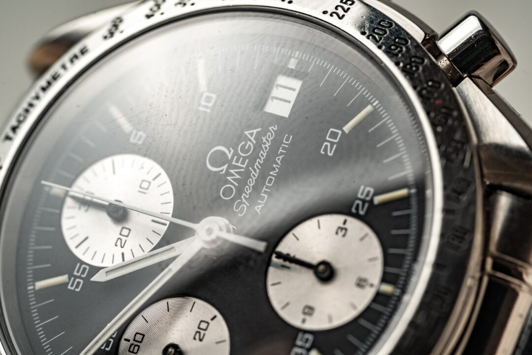 Omega speedmaster reduced 351150 reverse panda full set watch 2001 dial