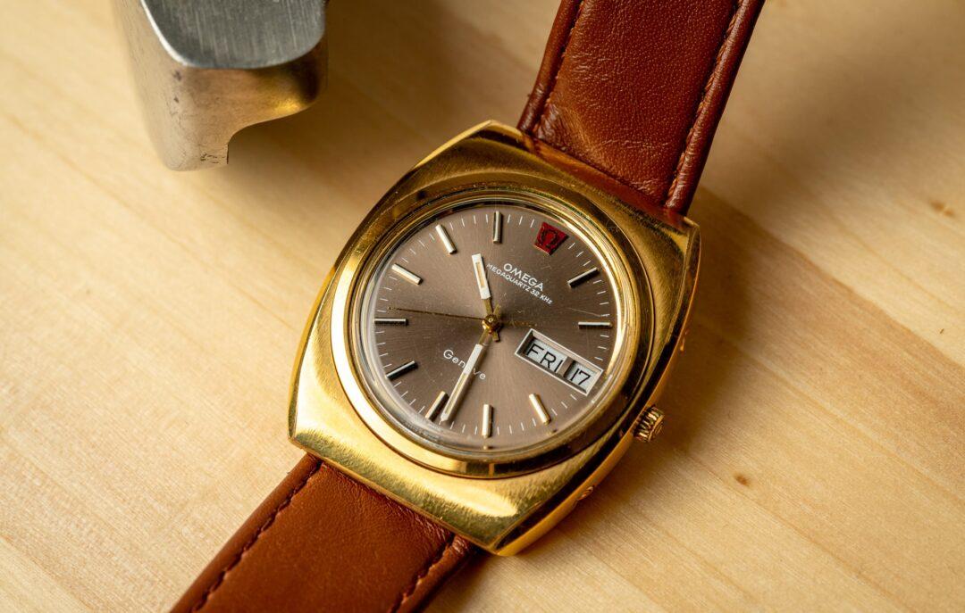 Omega Geneve Megaquartz 196.0030 Grey Dial Gold plated 1973