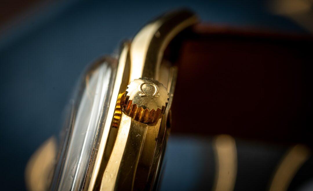vintage omega seamaster chronometer 168022 18k solid gold crown