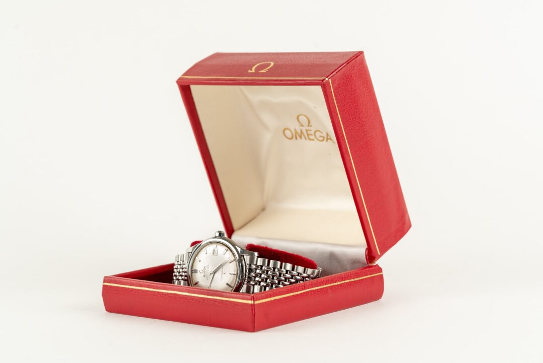 vintage omega constellation 168001 jumbo watch with original beads of rice bracelet
