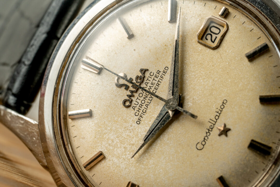 vintage omega 168.001 jumbo constellation watch dial