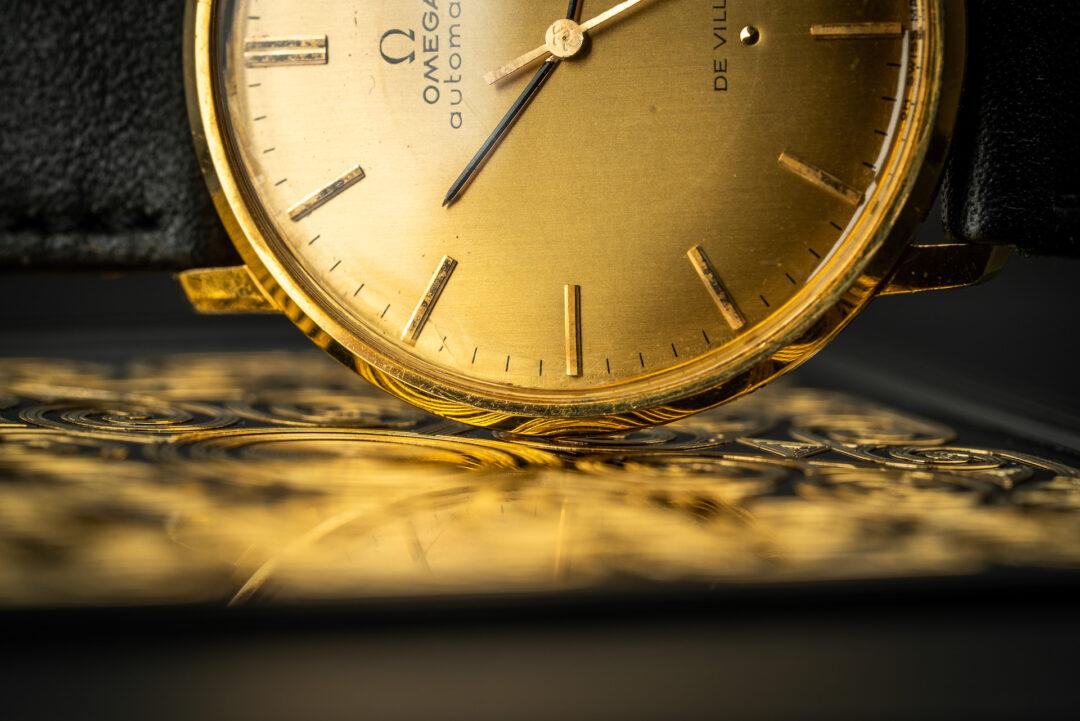 Omega de ville 18k gold 161024 from 1966 dial